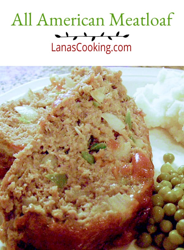A good, simple All American meatloaf with a catsup topping. Perfect family supper for any night or share with friends for an old fashioned treat. https://www.lanascooking.com/all-american/meatloaf/