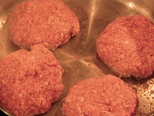 Cook the hamburger patties