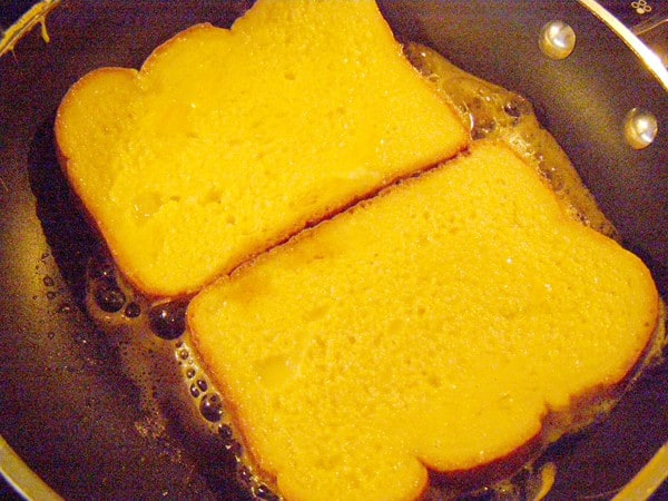 Cook Easy French toast on one side