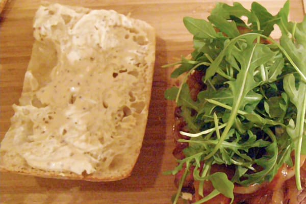 Finish with baby arugula