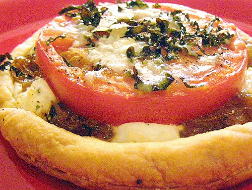 Tomato And Goat Cheese Tart Recipe — Dishmaps