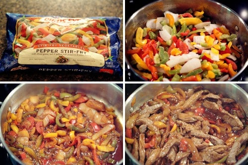 Add mixed veggies to the skillet.