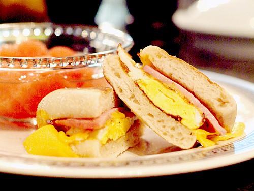 Egg, Ham, and Cheese Muffins