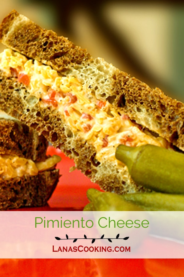 A true Southern classic - Pimiento Cheese. Sharp cheddar cheese, pimiento peppers, and mayo. The real deal! From @NevrEnoughThyme http://www.lanascooking.com/pimiento-cheese