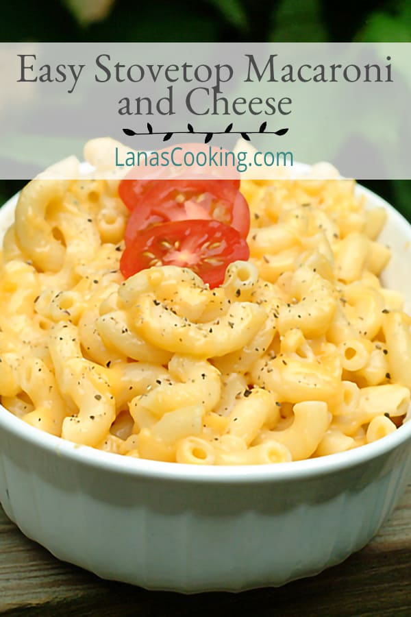 An Easy Stovetop Macaroni and Cheese recipe is a classic for every cook. It goes great with almost every main dish and there's no oven baking required. From @NevrEnoughThyme https://www.lanascooking.com/easy-cheesy-mac/