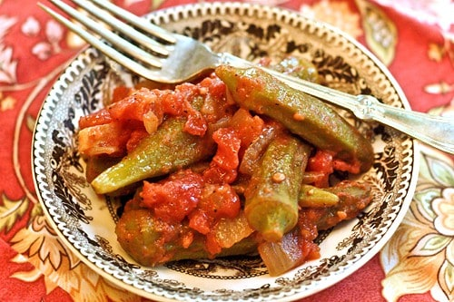 Okra and Tomatoes | Never Enough Thyme