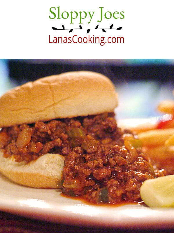 Sloppy Joes are a great, quick dinner for Back to School time. Get these on the table in under 30 minutes From @NevrEnoughThyme https://www.lanascooking.com/sloppy-joes/