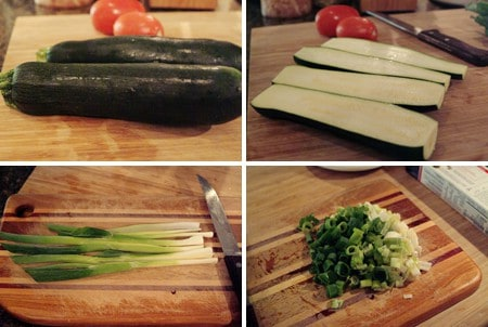 Prep stuffing for Stuffed Zucchini
