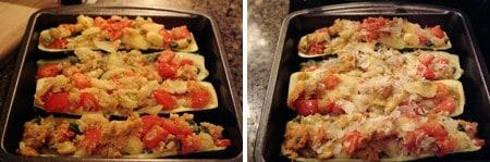 Stuffed Zucchini ready to bake