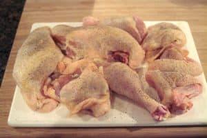 Prep the chicken for Chicken Cacciatore