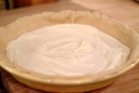 Pour cheesecake mixture into the prepared pie crust