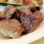 Pork Tenderloin with Mustard Sauce - lovely, flavorful pork tenderloin cooked quickly and coated with a coarse mustard pan sauce. From @NevrEnoughThyme https://www.lanascooking.com/pork-tenderloin-with-mustard-sauce/
