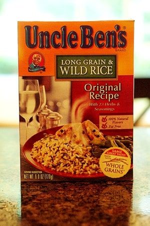 Long Grain and Wild Rice mix box.