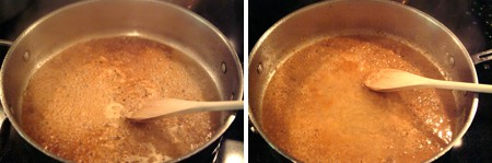 Add coarse grainy mustard to the pan drippings to make sauce for Pork Tenderloin with Mustard Sauce