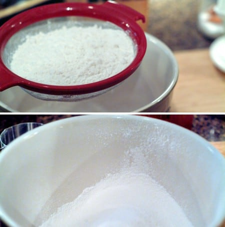 Sift dry ingredients together