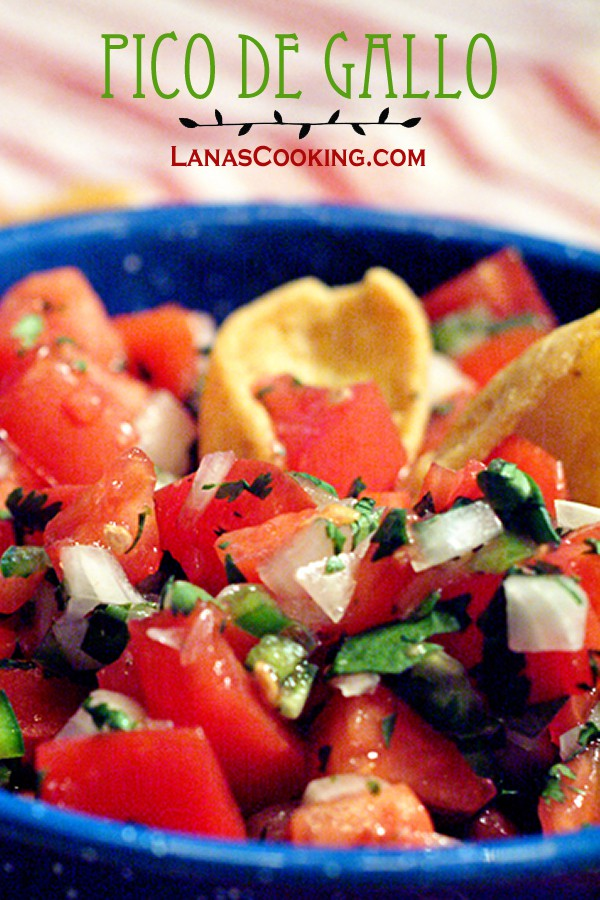 Nothing quite like homemade Pico de Gallo. So fresh! From @NevrEnoughThyme http://www.lanascooking.com/pico-de-gallo
