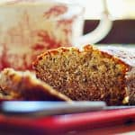 Banana Nut Bread - a moist, sweet banana and pecan bread great for breakfast, dessert or a snack. From @NevrEnoughThyme https://www.lanascooking.com/banana-nut-bread