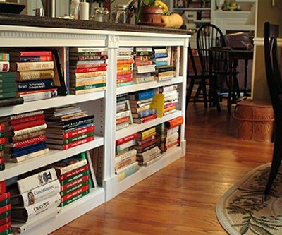 My kitchen bookcases