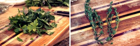 Herbs for chicken noodle soup