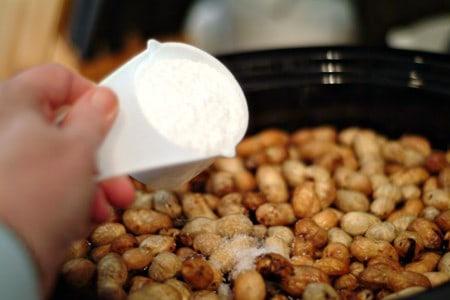 Add salt to Boiled Peanuts