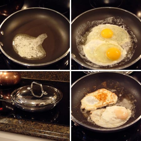 How to cook fried eggs for Huevos and Grits, Y'all!