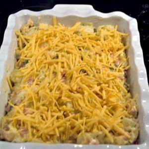 Cheesy Ham and Potato Bake