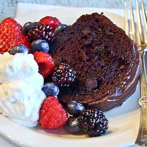 Berry-Glazed Chocolate Cake