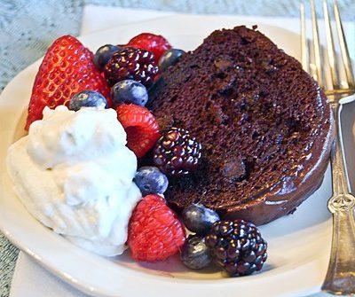 Berry-Glazed Chocolate Cake
