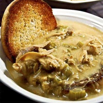 A south Georgia traditional recipe for Chicken Jallop - a chicken stew served over toasted hamburger buns. From @NevrEnoughThyme http://www.lanascooking.com/chicken-jallop