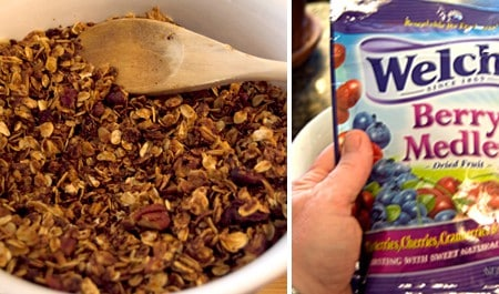Toss with dried fruit to complete Homemade Granola