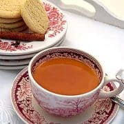 Spiced Tea (Russian Tea) is a mixture of warm tea, orange and lemon juices, infused with cloves and cinnamon. Served at all 1960s social functions! https://www.lanascooking.com/spiced-tea-a-k-a-russian-tea/