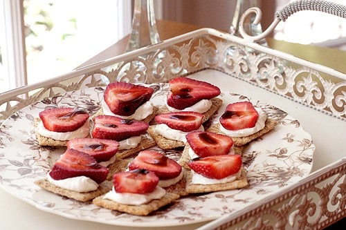 Strawberry Balsamic Appetizer