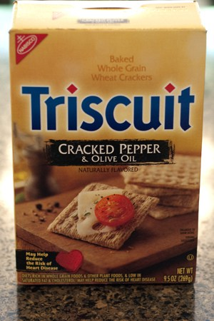 Cracked Pepper and Olive Oil Triscuits