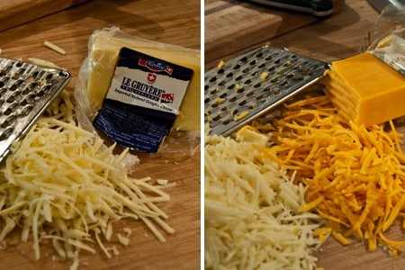Grate the cheese for Baked Ziti