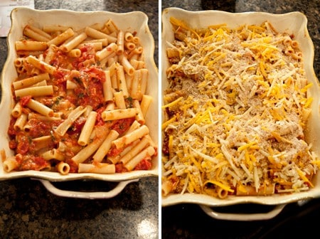 Place in casserole dish and top with more cheese