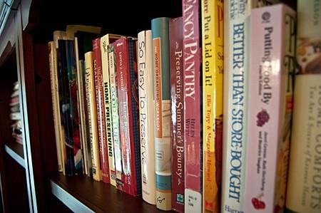 My shelf of canning books