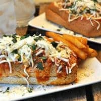 These Meatball Subs are made lighter and healthier by using baked meatballs, topped with marinara sauce and cheese on whole wheat rolls. https://www.lanascooking.com/meatball-subs/