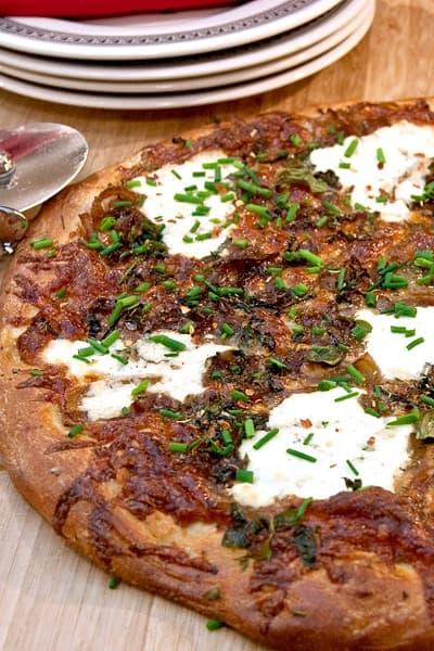 White Pizza #pizza #cheese #whitepizza