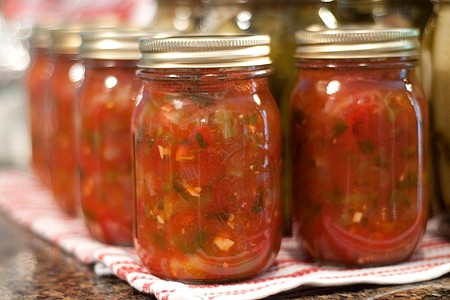 Basic Home Canned Tomato Salsa - Never Enough Thyme Blog at Allrecipes ...