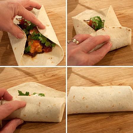 Roll a burrito