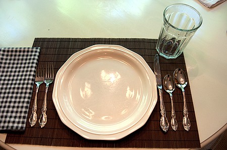 Correct table setting