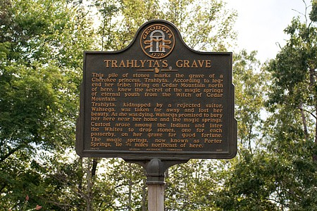 Trahlyta's Grave Historical Marker