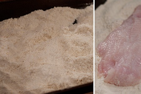 Coating catfish fillets for frying