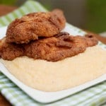 Fried Catfish with Cheese Grits