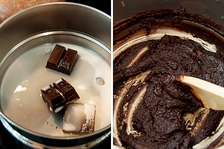 Melting chocolate for Chocolate-Chocolate Cake