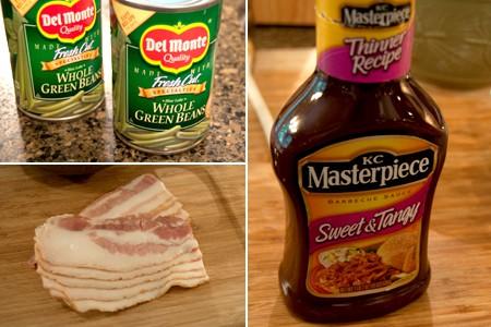 Ingredients for making Barbecued Green Bean Bundles