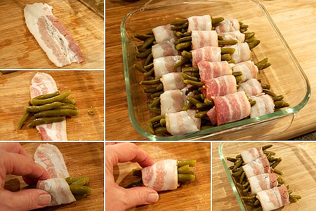 Roll up the Barbecued Green Bean Bundles