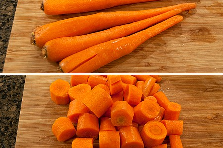 Prep the carrots