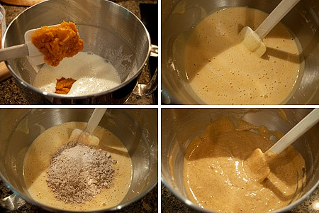 Preparing Cream Cheese Filled Pumpkin Roll