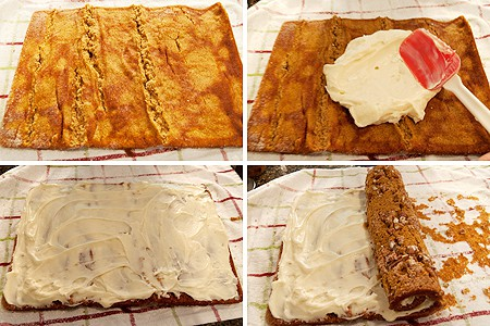 Making Cream Cheese Filled Pumpkin Roll